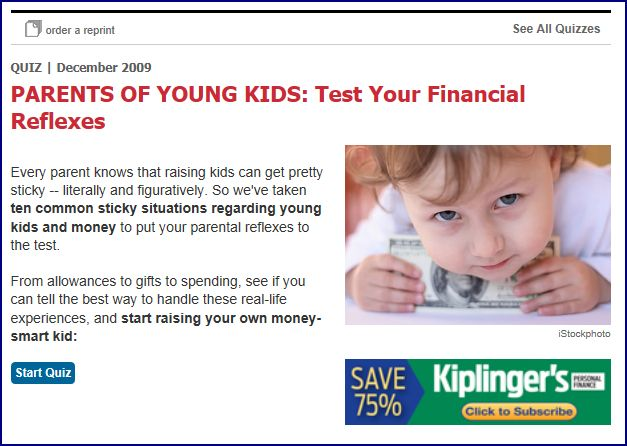 Kiplinger Quiz for Parents of Young Kids