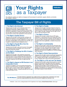 Taxpayer Bill of Rights
